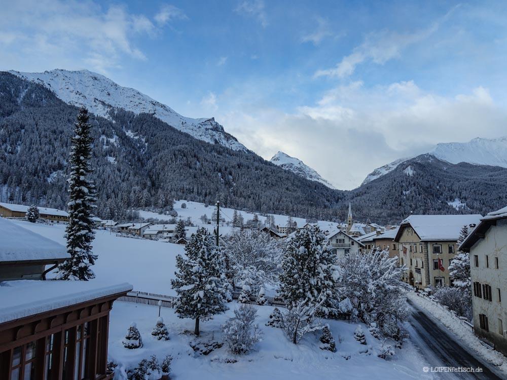 Blick aus dem Hotel Schweizerhof